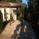 After custom landscaping design