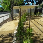 Drought -tolerant yards backyard lawn to soil.
